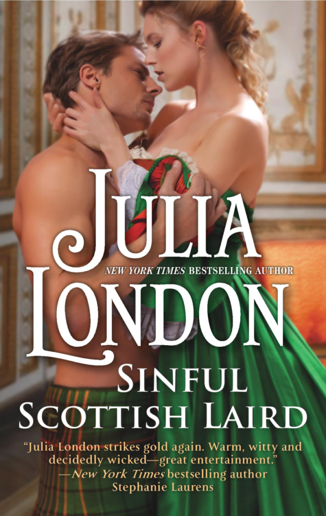 Romance Book Cover Quote : Sinful scottish laird by julia london